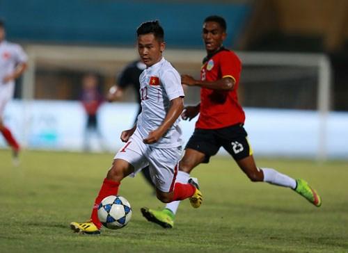 2016年东南亚U19足球锦标赛:越南队大胜东帝汶 hinh anh 1