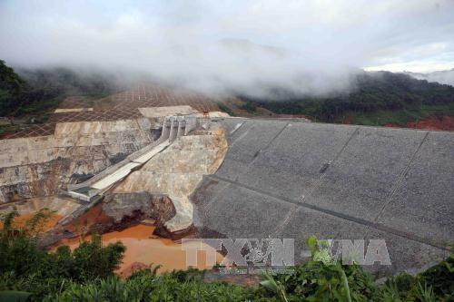 广南省松邦2号水电站导流洞破裂造成两名工人失踪 hinh anh 1