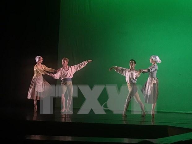 庆祝越南河内市与法国图卢兹市合作关系20周年芭蕾舞艺术表演活动在河内举行 hinh anh 1