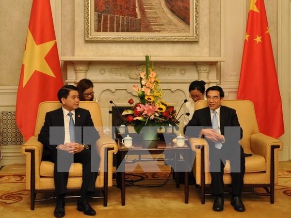 河内与北京发扬友好合作传统 hinh anh 1