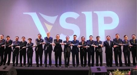 越南-新加坡工业区成立20周年纪念典礼在平阳省举行 hinh anh 1