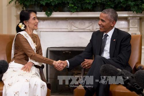 美国承诺将解除对缅甸经济制裁 hinh anh 1