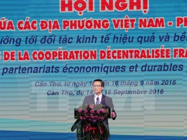 第十次越法地方间合作会议在芹苴市召开 hinh anh 1