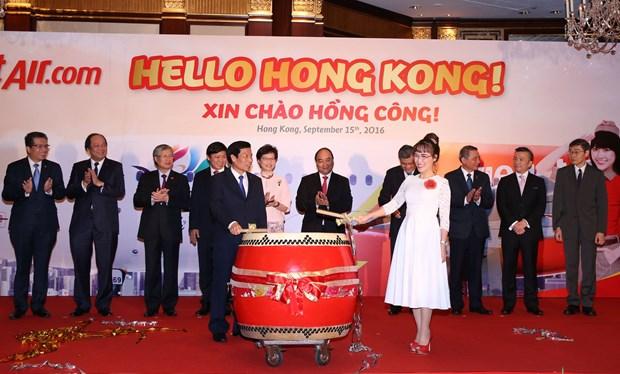越捷航空公司开通胡志明市至中国香港直达航线 hinh anh 1