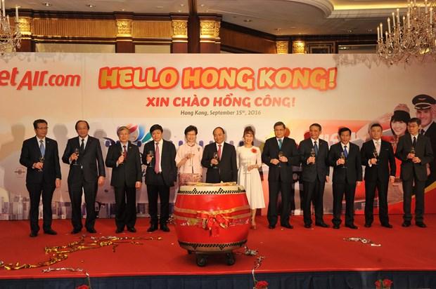 越捷航空公司开通胡志明市至中国香港直达航线 hinh anh 2