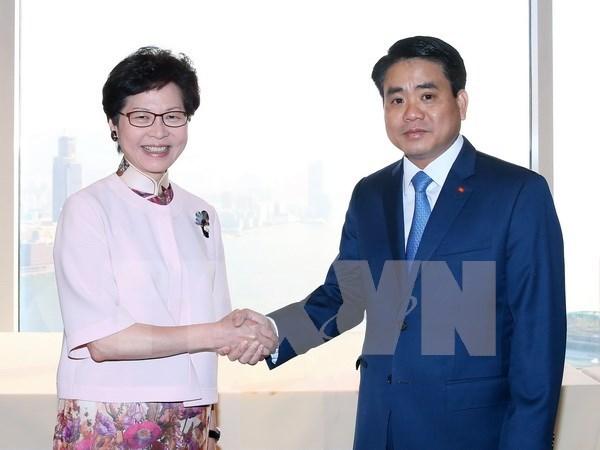 河内市与中国香港加强合作 促进互利共赢 hinh anh 1