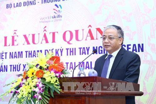 越南代表团第11届东盟职业技术比赛出征仪式在河内举行 hinh anh 1