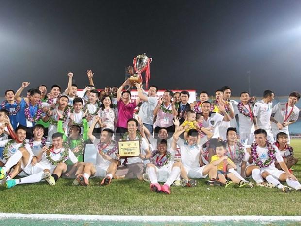 越南国家足球锦标赛:河内T&T足球队夺冠 hinh anh 1