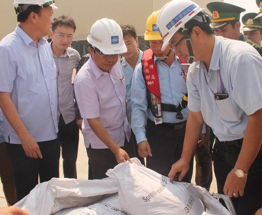 越南工商部未许可河静兴业钢铁有限责任公司进口160吨铝土矿泥 hinh anh 1