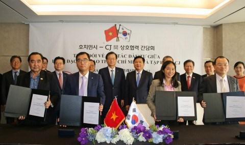 韩国希杰集团与越南西贡贸易总公司合作扩大在越食品经营范围 hinh anh 1