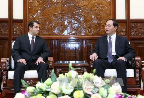 越南国家主席陈大光会见阿塞拜疆驻越大使阿纳尔·伊马诺夫 hinh anh 1