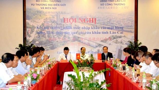 越南和中国为通过老街省各口岸的农林水产品进出口活动解决困难 hinh anh 1