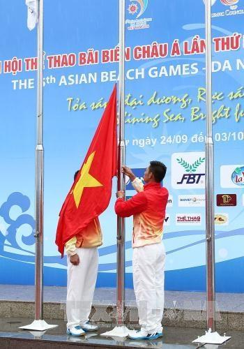 第五届亚洲沙滩运动会升旗仪式在岘港市举行 hinh anh 2