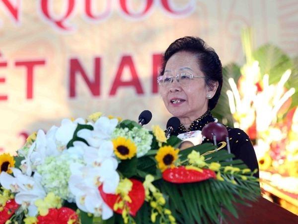 前国家副主席阮氏缘在大会上当选越南助学协会主席职务 hinh anh 1