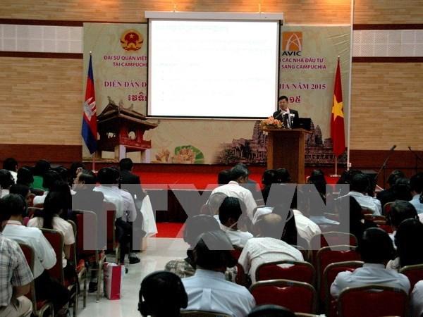 2016年越南-柬埔寨企业论坛在柬开幕 hinh anh 1