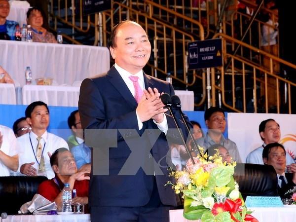 阮春福总理出席第5届亚洲沙滩运动会开幕式 hinh anh 1