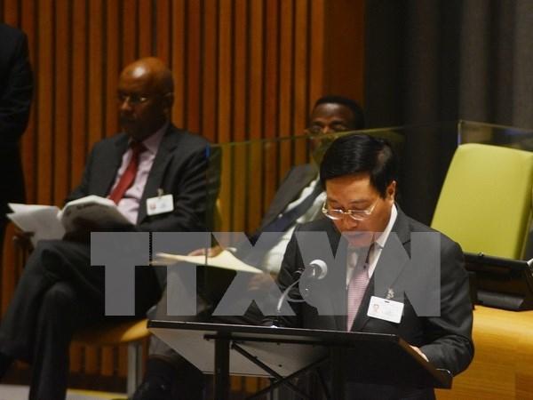 第71届联合国大会:范平明副总理呼吁加强多边主义和遵守国际法 hinh anh 1