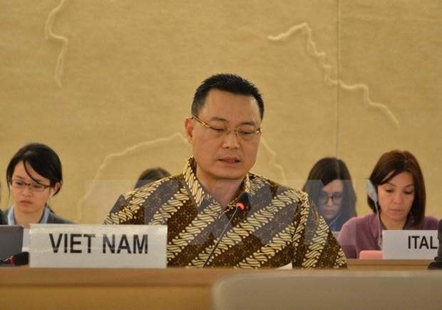 越南代表东盟强调对普遍定期审议机制的承诺 hinh anh 1