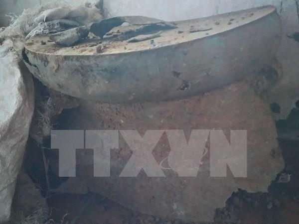 清化省发现距今2000多年的古代铜鼓 hinh anh 1