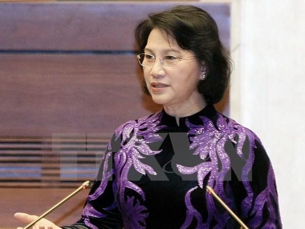 越南国会主席阮氏金银开始对缅甸进行正式访问 hinh anh 1