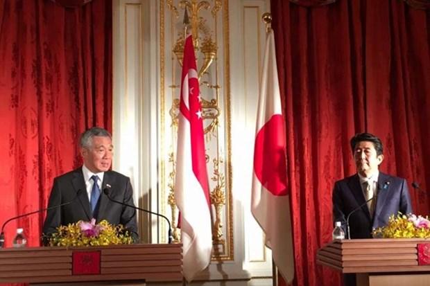 新加坡与日本加强双边关系 hinh anh 1