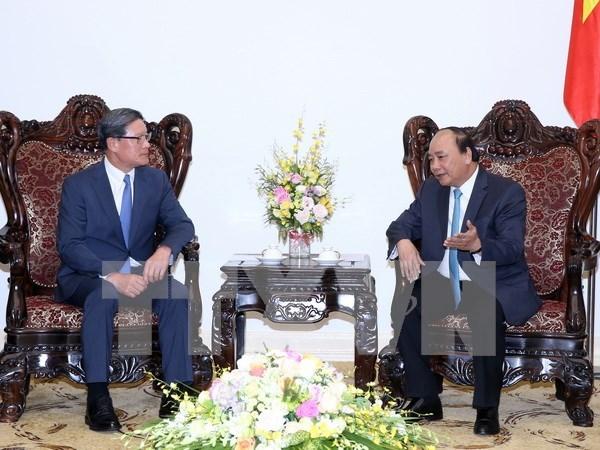 越南政府总理阮春福分别会见韩国CJ集团和CS集团领导 hinh anh 2