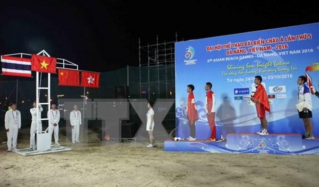 第5届亚洲沙滩运动会:越南继续名列榜首 hinh anh 1