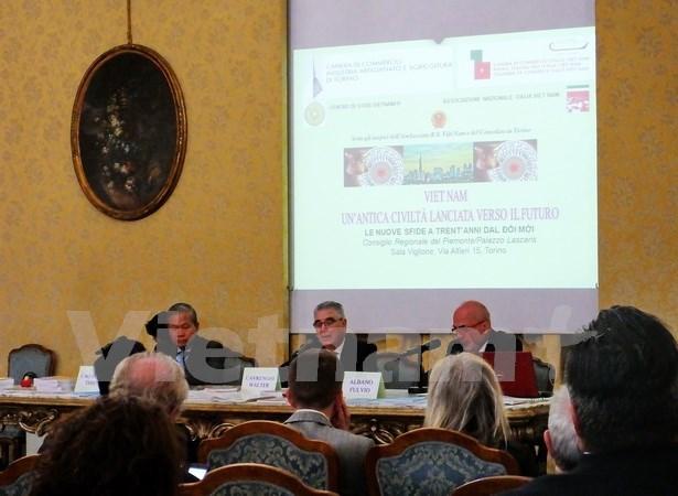越南革新30年后新面貌研讨会在意大利举行 hinh anh 1
