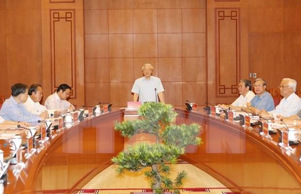越南中央反腐败指导委员会决定将6起严重经济腐败案进行初审 hinh anh 1