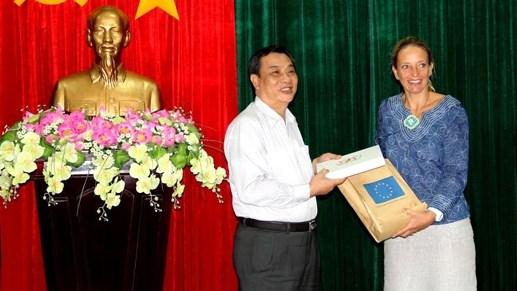 欧洲联盟协助越南九龙江三角洲应对气候变化 hinh anh 1