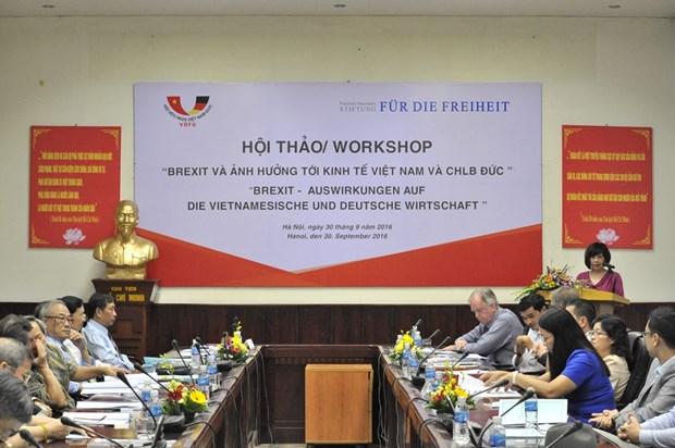"""""""英国退欧对越南与德国产生的影响""""研讨会在越南举行 hinh anh 1"""