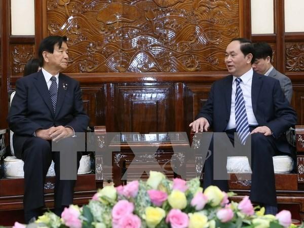 越南国家主席陈大光:扩大越日两国地方间合作 hinh anh 1
