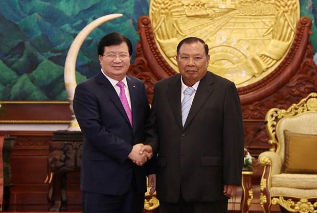 越南政府副总理郑廷勇对老挝进行正式访问 hinh anh 1