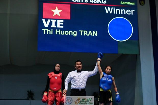 越南队在2016世界青少年武术锦标赛中夺得5枚金牌 hinh anh 1
