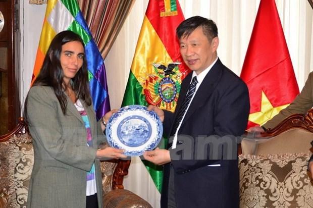 越南共产党代表团访问玻利维亚 hinh anh 1