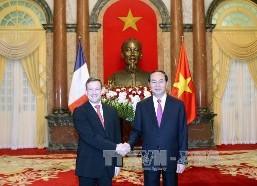 越南国家主席陈大光接受七国新任驻越大使递交国书 hinh anh 1