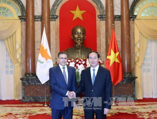 越南国家主席陈大光接受七国新任驻越大使递交国书 hinh anh 4
