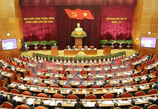 越共第十二届中央委员会第四次全体会议在河内召开 hinh anh 1