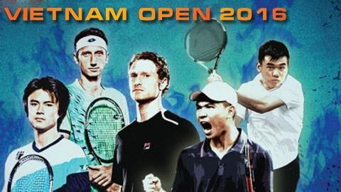2016年越南网球公开赛正选赛首场比赛正式开打 hinh anh 1