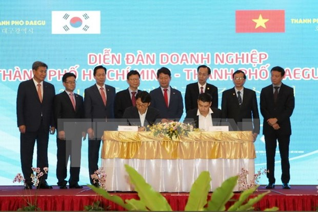 越南胡志明市深化与韩国大邱市的贸易投资合作关系 hinh anh 1