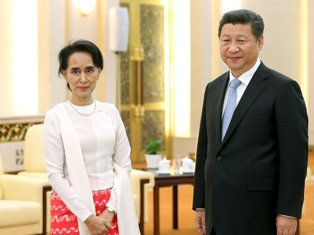 中国与缅甸加强双边合作关系 hinh anh 1
