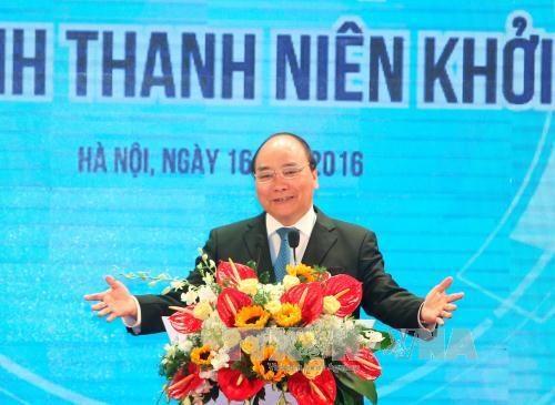 阮春福总理:当前是最佳的创业时期 hinh anh 1