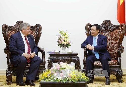 越南政府副总理王廷惠会见英国贸易和投资大臣普睿勋爵 hinh anh 1