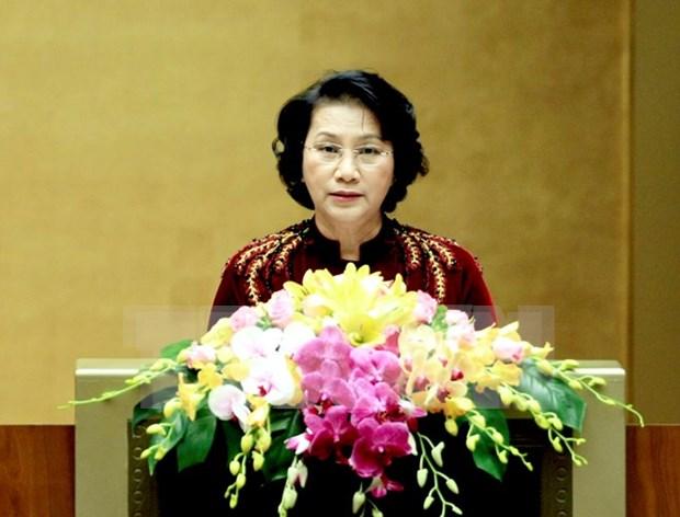 国会主席阮氏金银:第十四届国会二次会议将通过多项法律草案和决议 hinh anh 1