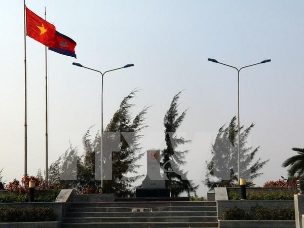 越柬陆地边界勘界立碑联合委员会主席会议在胡志明市召开 hinh anh 1