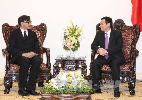 王廷惠副总理会见泰国驻越大使马诺斋·旺帕迪 hinh anh 1
