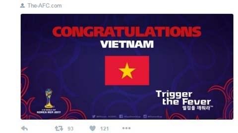 越南男足U19闯进2017年韩国U20世界杯 国际媒体纷纷祝贺 hinh anh 1
