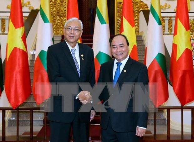 缅甸总统吴廷觉:缅方鼓励越南企业赴缅投资 hinh anh 1