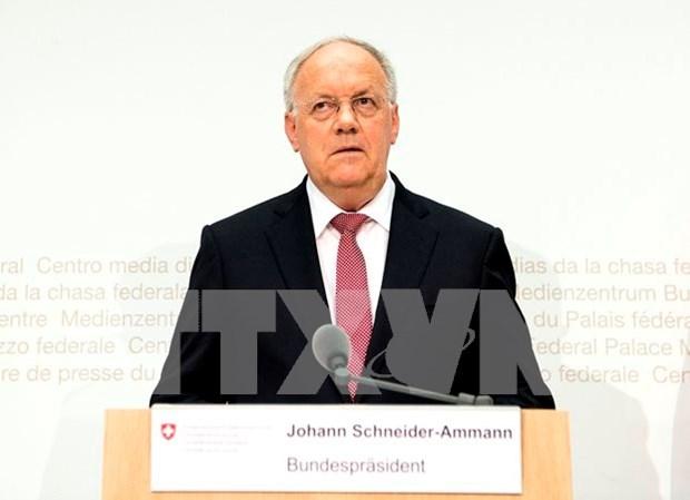 瑞士总统约翰•施奈德-阿曼:越瑞关系呈现出不断发展的良好态势 hinh anh 1