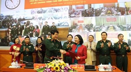 越共中央民运部与越南人民军总政治局配合开展民运工作 hinh anh 1
